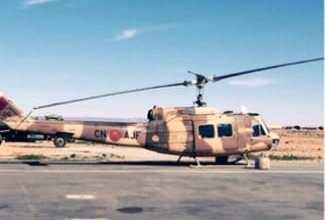 صورة تدخل طائرة هليكوبتر عسكرية .. لنقل قائد تعرض لإعتداء شنيع بواد المرصى ضواحي الفنيدق .