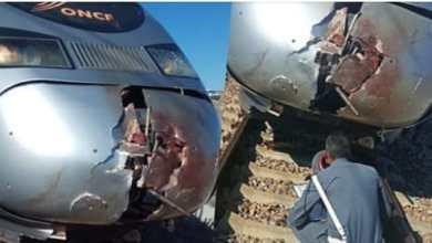 صورة القطار الفائق السرعة تي جي في يدهس شخصا ويحوله الى أشلاء بالقرب من أصيلا.