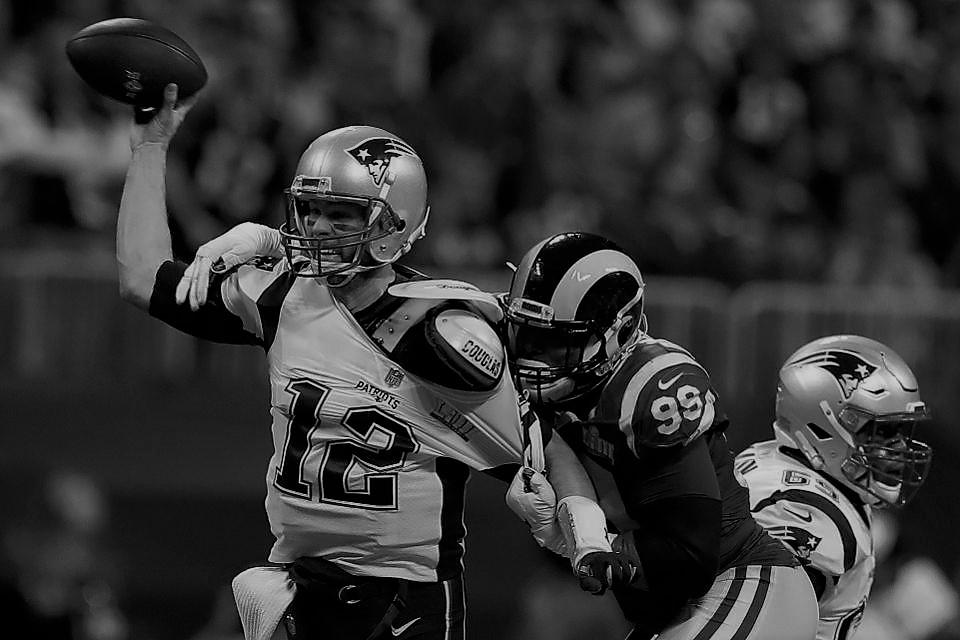 Brady sacked by Aaron Donald