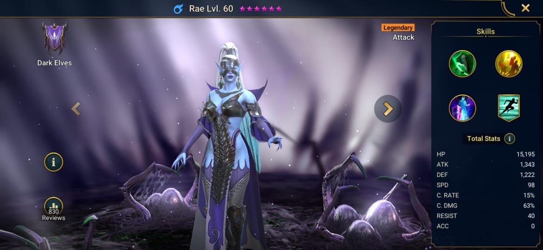 Raid Shadow Legends Rae Build – Artifacts & Masteries Guide