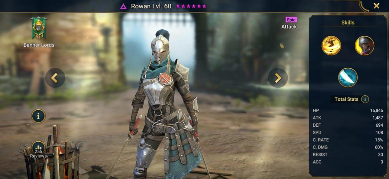 Raid Shadow Legends Rowan Build – Artifacts & Masteries Guide