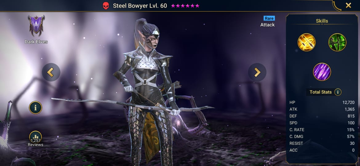 Raid Shadow Legends Steel Bowyer Build – Artifacts & Masteries Guide