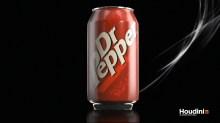 Dr Pepper Packshot Responsible for all elements. Modeled in Maya. Rendered in Mantra.