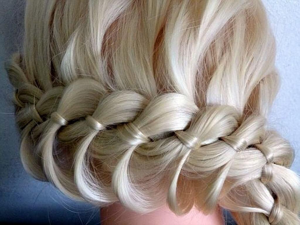 схема плетения кос спицами