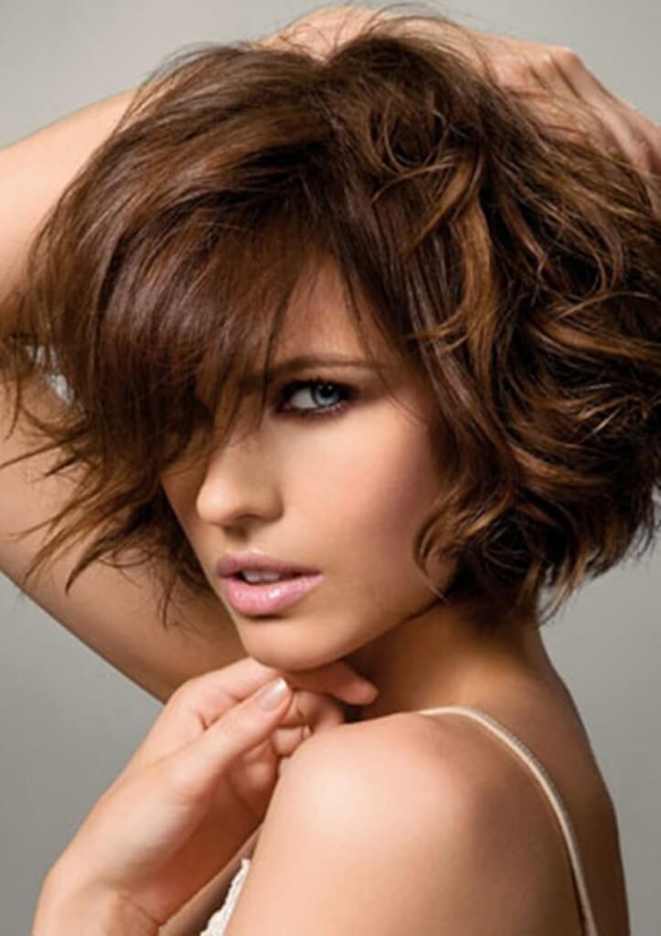 стрижка для вьющихся волос фото
