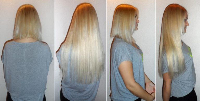 Наращивание на длинные волосы для объема
