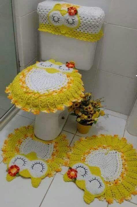 Фото совы крючком в ванную комнату и туалет