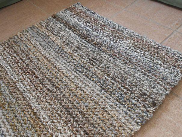 Фото коврик крючком прямоугольной формы
