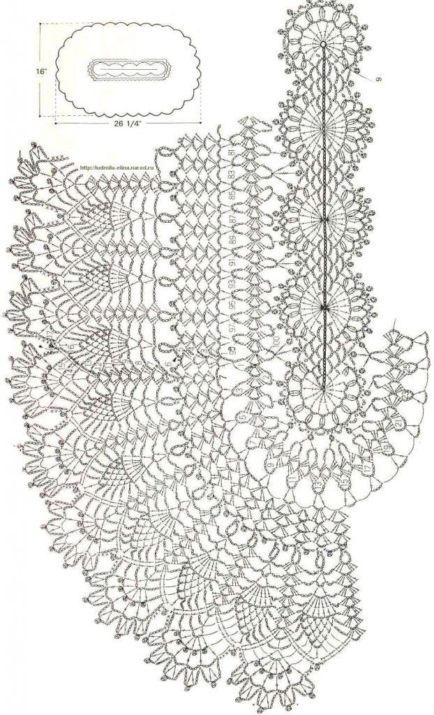 Фото схема вязания ковра с ананасами