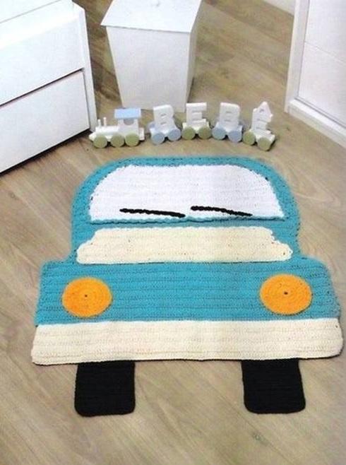 Фото детские коврики связанные крючком