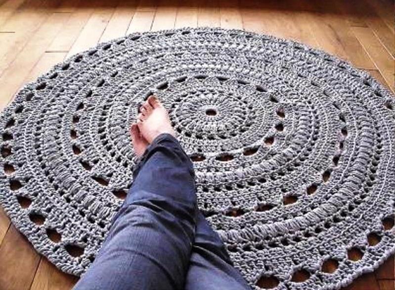 Фото круглые коврики крючком