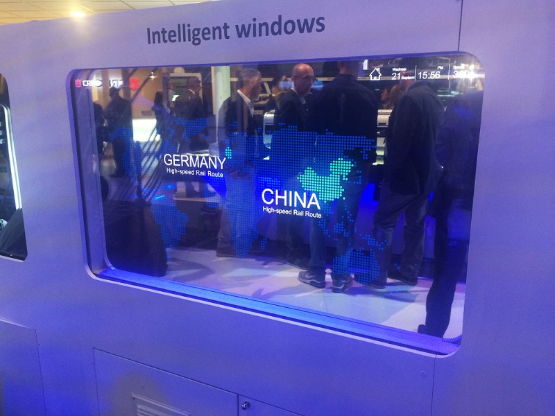 Windows with display technology