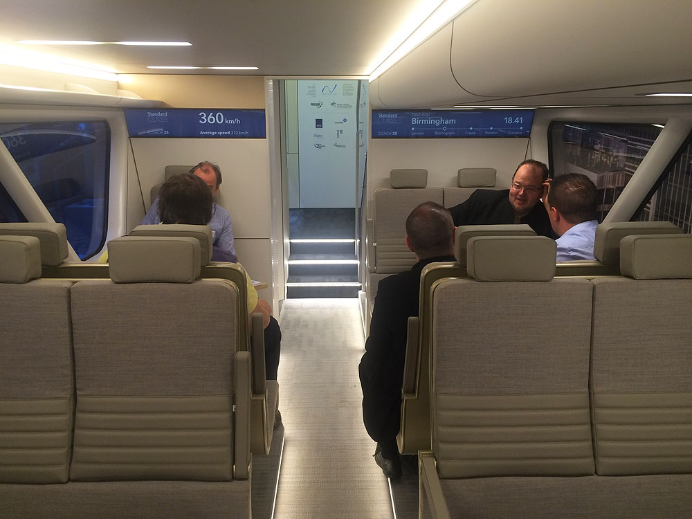Inside Aeroliner3000 – train concept by DLR and Andreas Vogler Studio