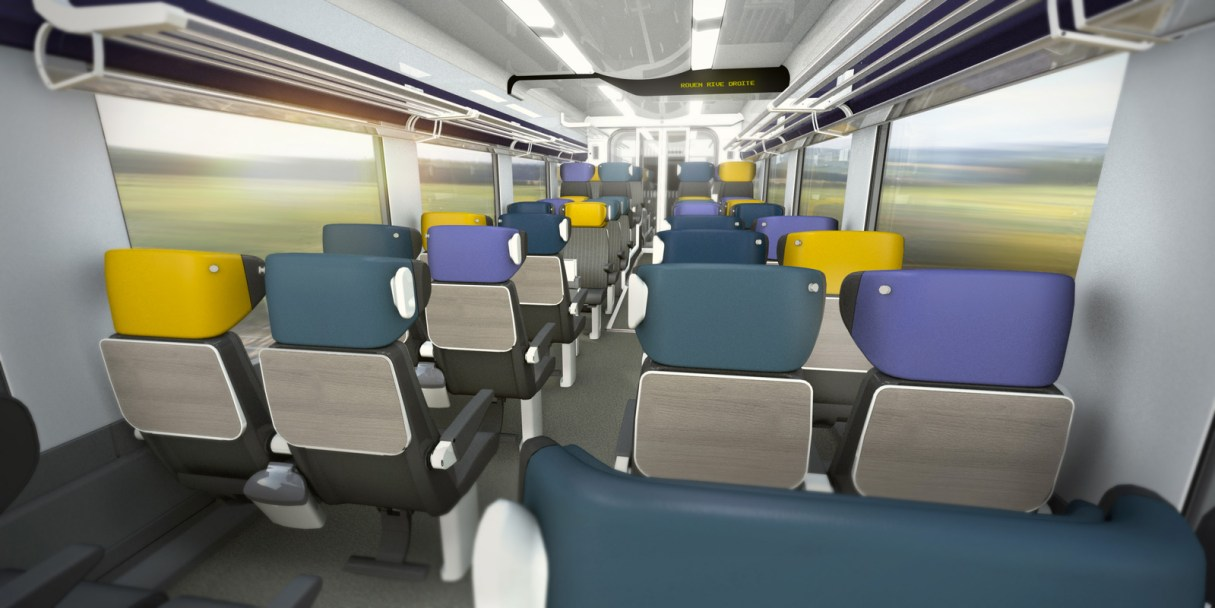 Artist impression Coradia Liner interior, October 2013. Copyright Alstom Design&Styling