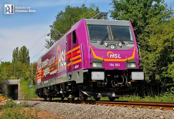 Akiem > HSL Logistik 186 383 in kassel on 01.08.2018 - Photo: Christian Klotz