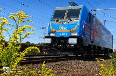 Akiem > HSL Logistik 186 381 on 03.08.2018 - Photo: Martin Priebs