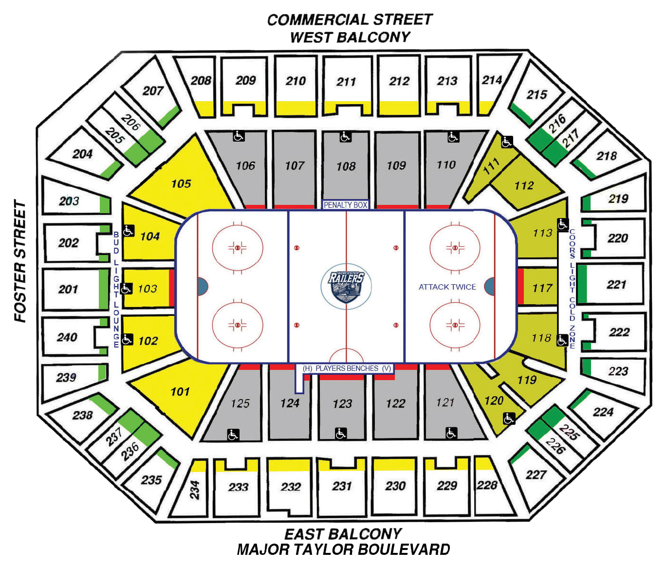 hight resolution of seating map