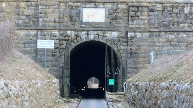 The tunnel through Chetoogeta Mountain in Tunnel Hill, Ga.