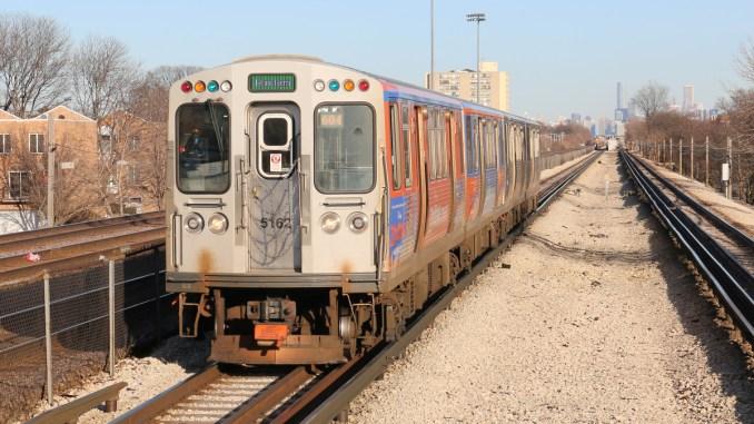 CTA Green Line at Oak Park