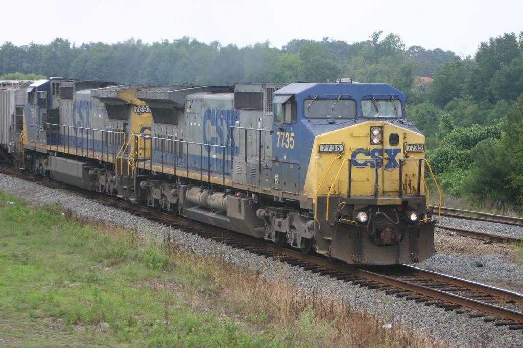 A freight makes its way into the yard at Manchester, Ga.