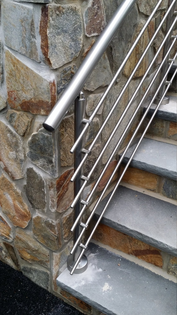 Modern Stairs Balcony Backyard Porch Patio Hand Rail Staircase | Modern Stair Hand Railing | Creative Outdoor Stair | Wooden Stair | Decorative | Curved Metal | Diy Modern