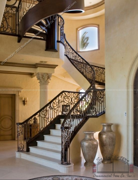 Southeastern Ornamental Iron Works   Wrought Iron Stair Railings Interior Cost   Stair Parts   Iron Staircase Railings   Rod Iron Balusters   Wood   Stair Spindles