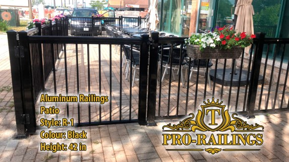 TorontoProRailings-AluminumRailings-R-1-Style-Black-42height-railing-patio