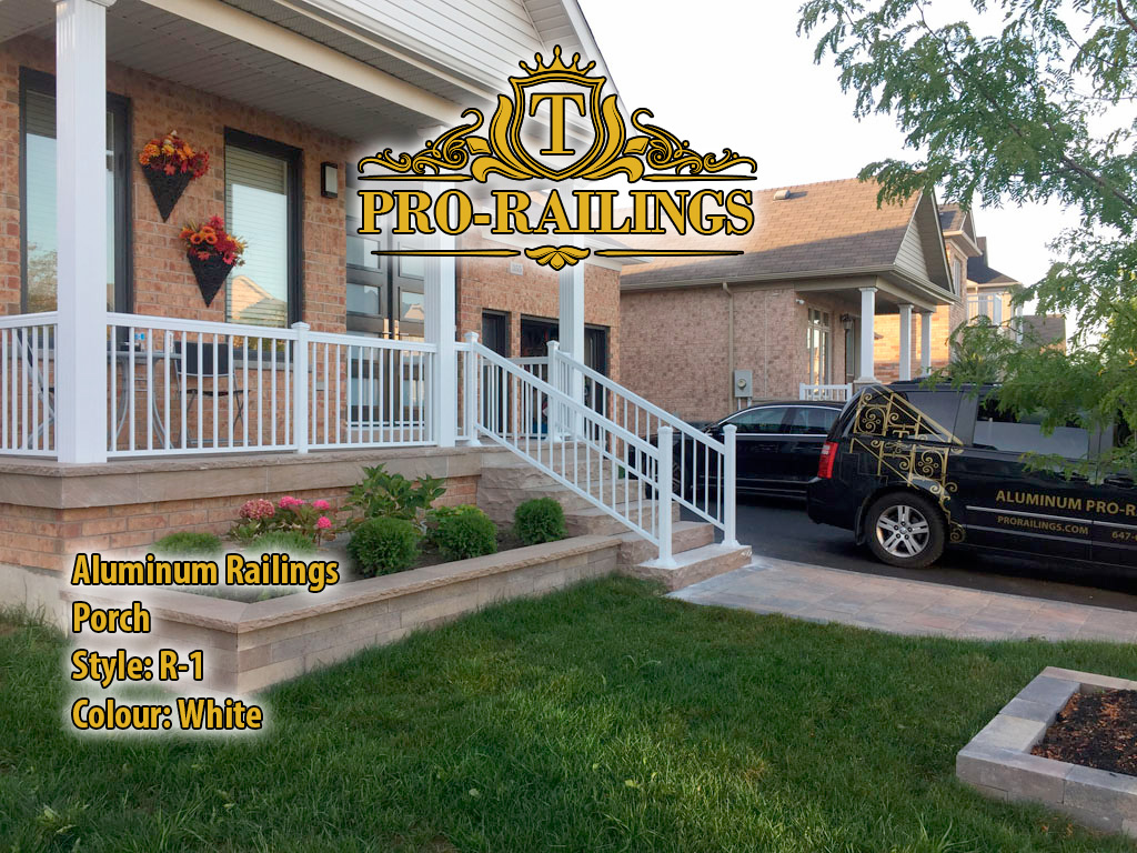 TorontoProRailings-AluminumRailings-R-1-Style-White-Porch