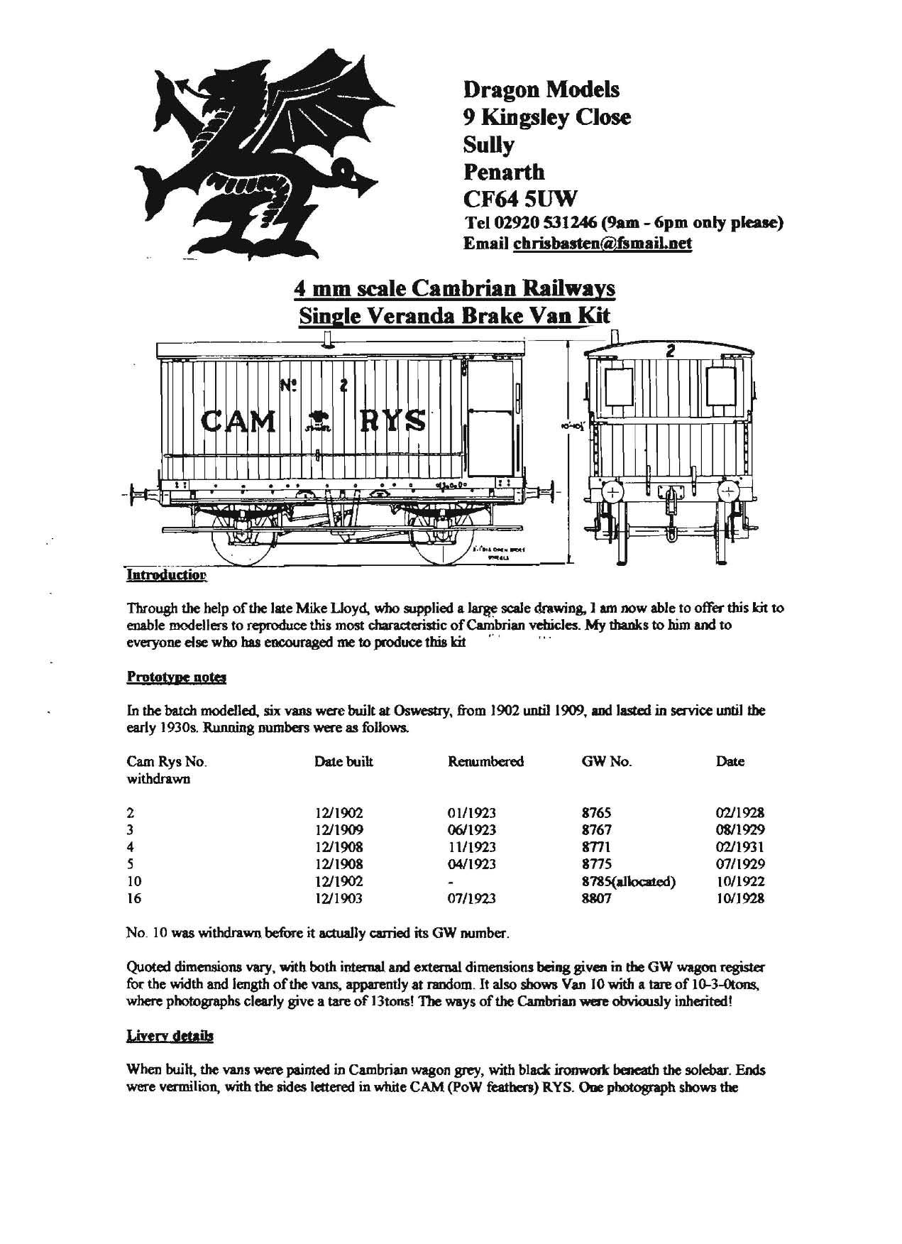 Railway Kit Instructions Archive