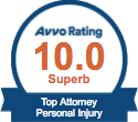 Railroad Injury Lawyer Award - AVVO