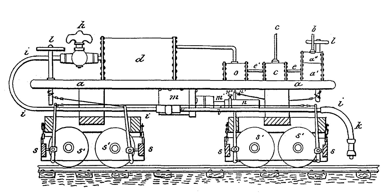 hight resolution of patent illustration for george westinghouse s first patent for an air brake