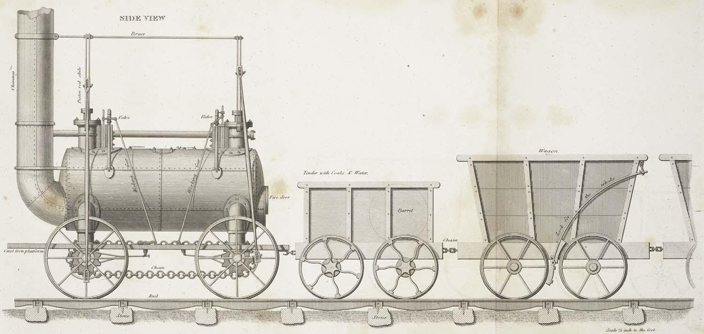 hight resolution of stephenson s patent locomotive engine