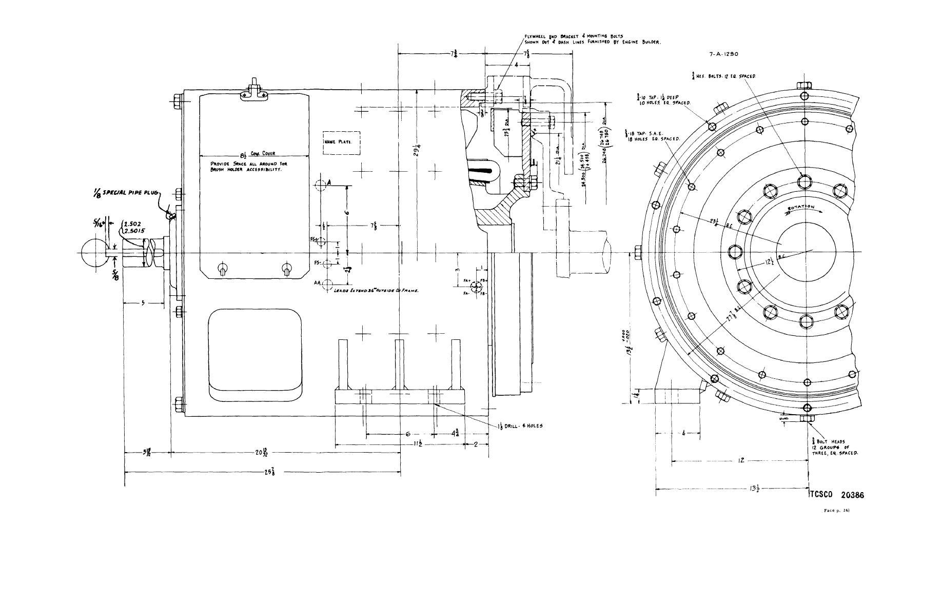 Figure 8 Traction Generator Outline