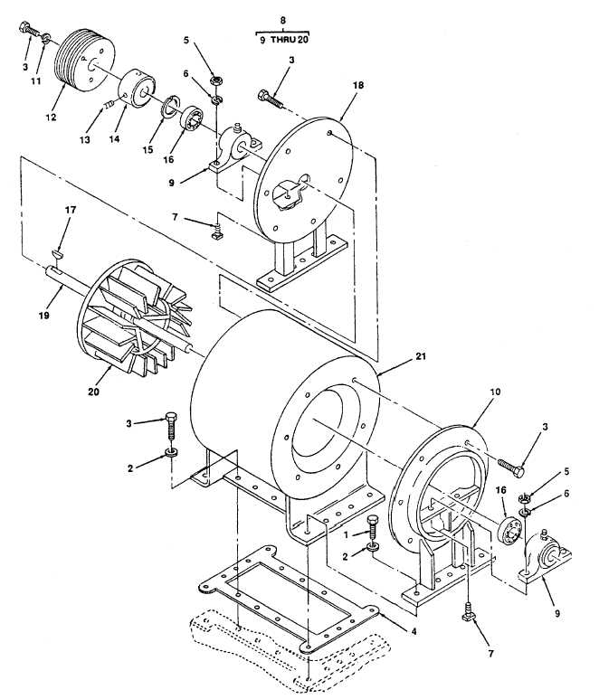 Figure 84. Blower, Traction Motor Assembly.