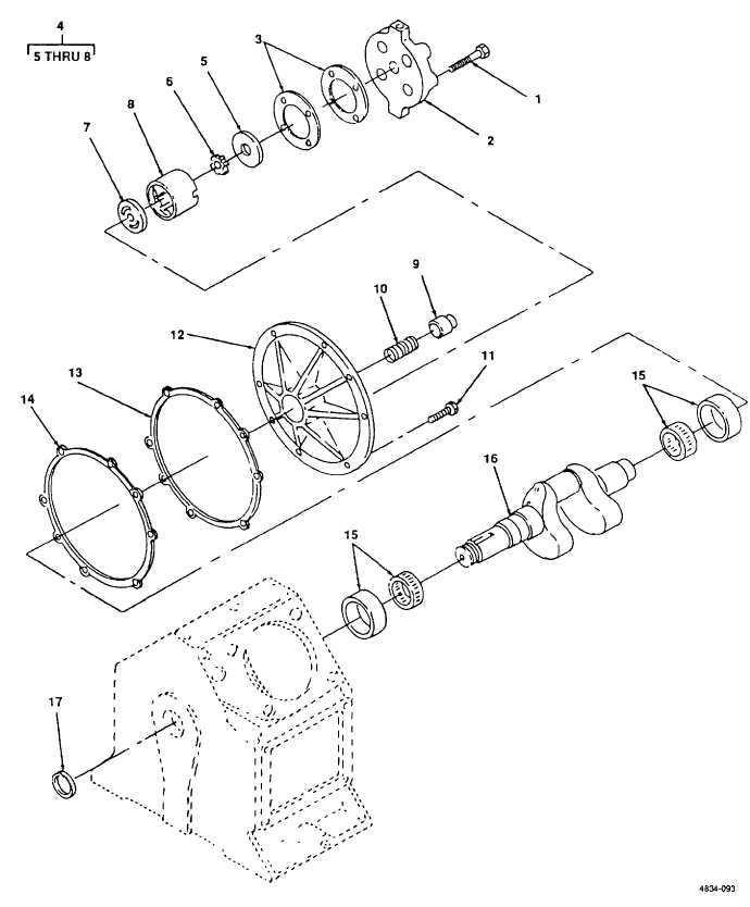 Figure 93. Crankshaft and Oil Pump.