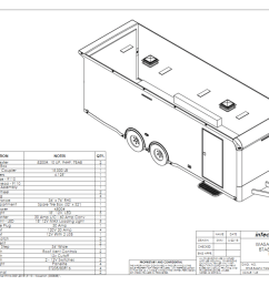 custom enclosed car trailers for race cars built with rail ryder ryder utility trailer lights wiring diagram [ 1024 x 789 Pixel ]