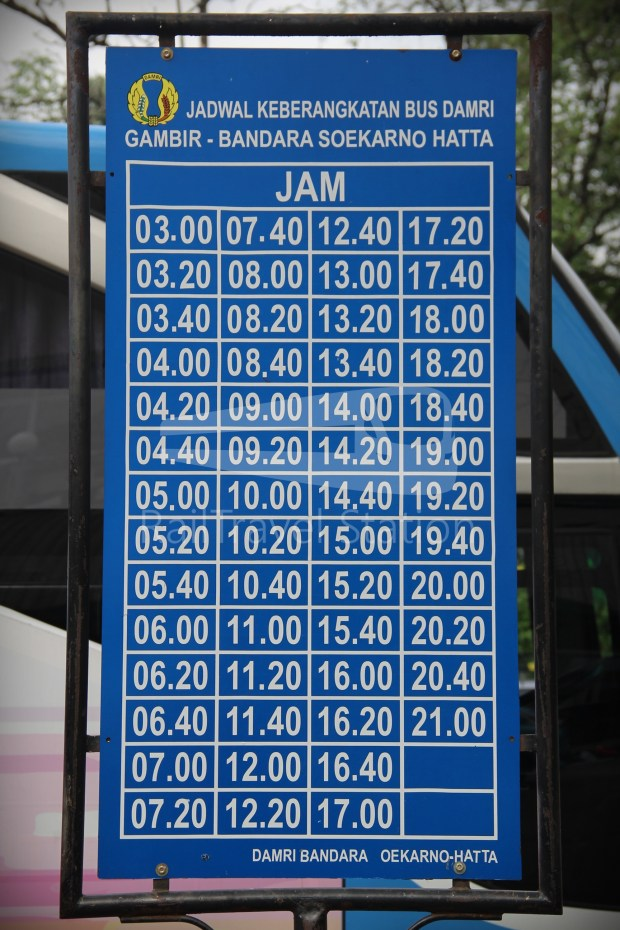 Damri Airport Bus Gambir Basoetta Nov18 Timetable 01