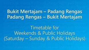 Icon KTM Komuter Timetable Bukit Mertajam Padang Rengas Weekends 310