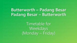 Icon KTM Komuter Timetable Butterworth Padang Besar Weekdays 310