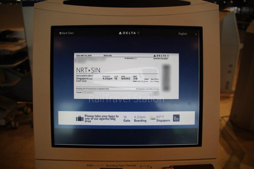 Delta DL169 NRT SIN 007