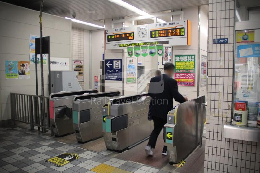 Tobu Skytree Line Local Higashi-Mukojima Asakusa 005