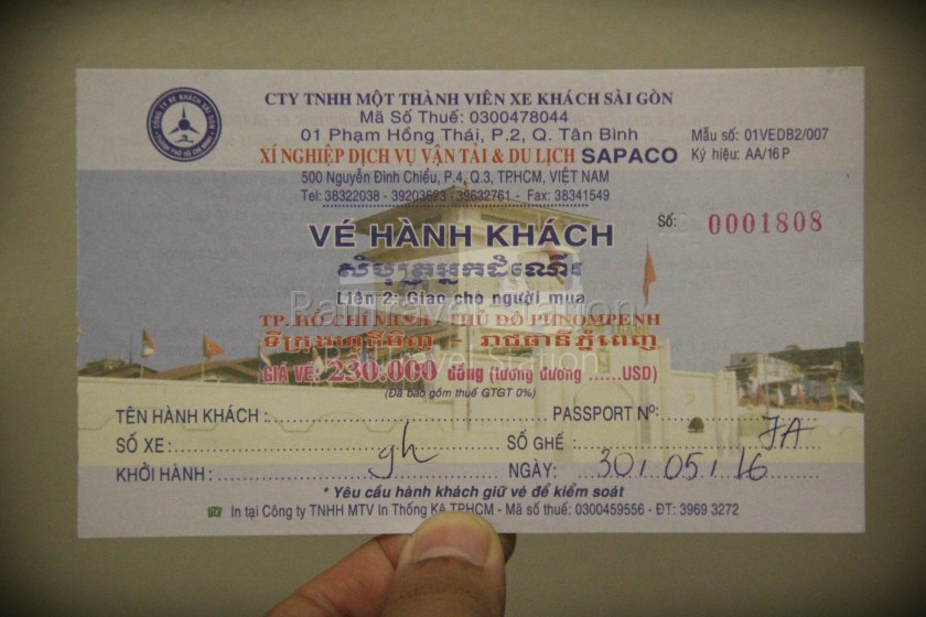 London to Singapore Day 32 Ho Chi Minh to Phnom Penh 01