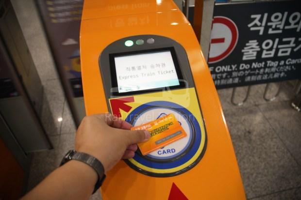 AREX Express Train Incheon International Airport Terminal 1 Seoul Station 016