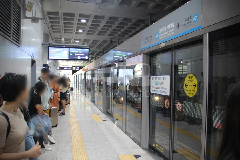 AREX Express Train Incheon International Airport Terminal 1 Seoul Station 035