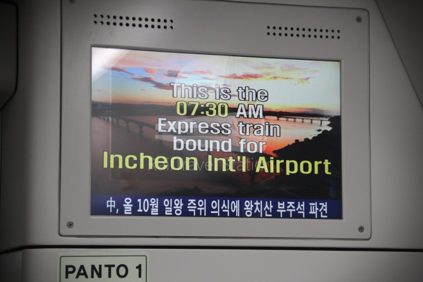 AREX Express Train Seoul Station Incheon International Airport Terminal 1 031