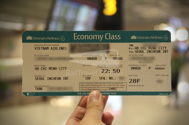 Vietnam Airlines VN656 SIN SGN for ICN 010