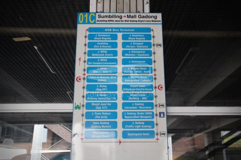 Brunei-Muara Service 01C BSB Bus Terminal Clockwise 076