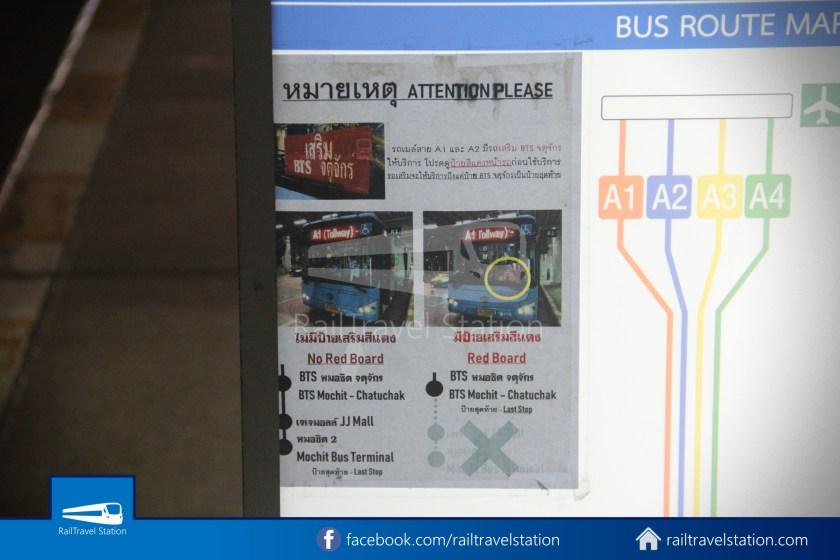 Don Mueang Airport Bus A1 DMK Chatuchak Park MRT 004