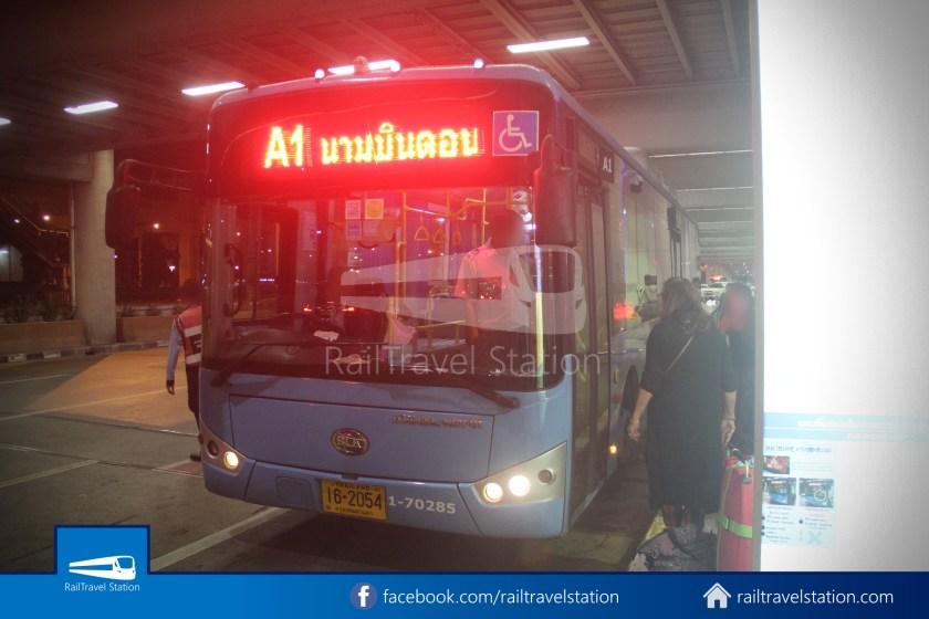 Don Mueang Airport Bus A1 DMK Chatuchak Park MRT 006