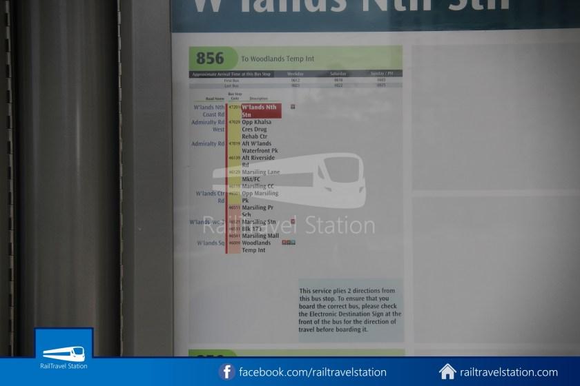 SMRT 856 Woodlands Train Checkpoint Woodlands North MRT 021
